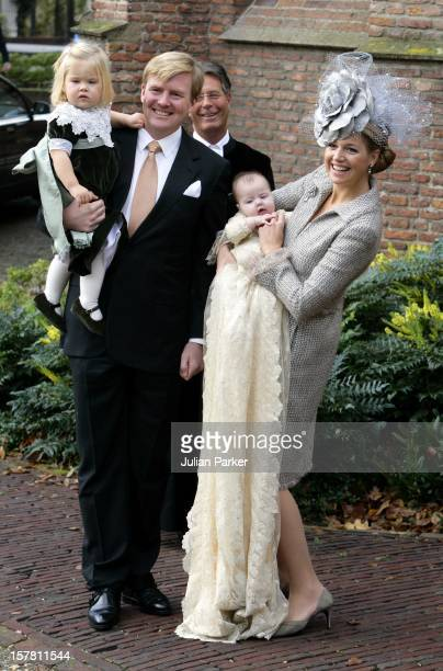 Crown Prince WillemAlexander Crown Princess Maxima Princess CatharinaAmalia Attend The Christening Of Princess Alexia Of The Netherlands At The...