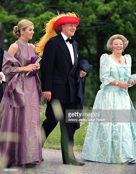 Crown Prince Willem-Alexander, Crown Princess Maxima & Queen Beatrix Of Holland Attend A Performance At Gripsholm Castle During The Celebrations For...