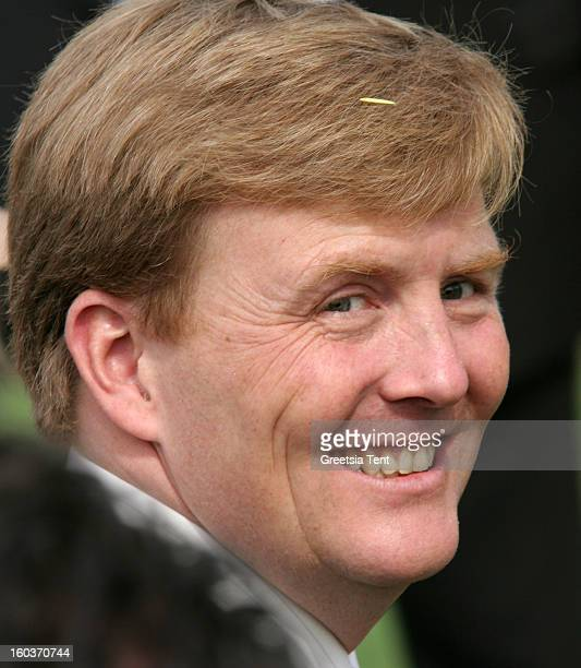 Crown Prince WillemAlexander of the Netherlands attends the traditional Queens Day celebrations on April 30 2005 in Scheveningen Netherlands