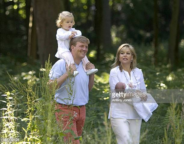 Crown Prince Williem Alexander Crown Princess Maxima And Daughters Princess Amalia Princess Alexia Of Holland Attend A Photocall At Their House Villa...