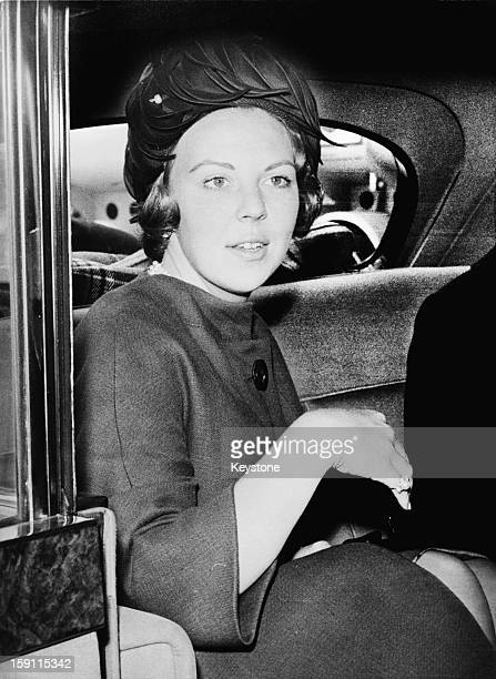 Crown Princess Beatrix later Queen Beatrix of the Netherlands arrives at London Airport en route to attend the christening of her godchild Sibylla...