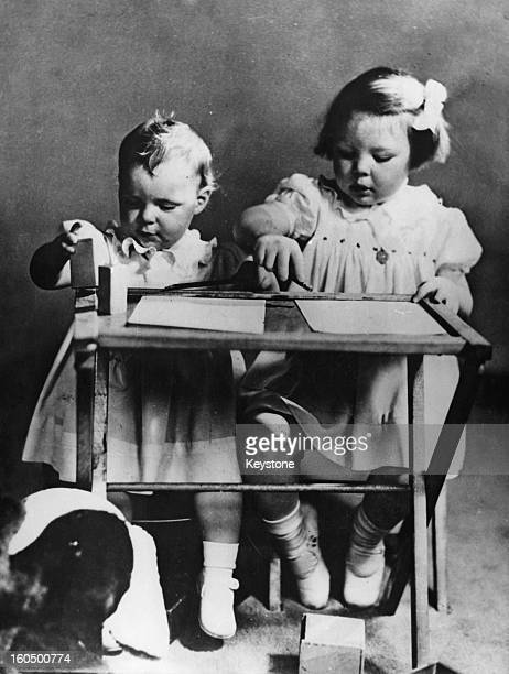 Crown Princess Beatrix of the Netherlands and her sister Princess Irene Canada 1941