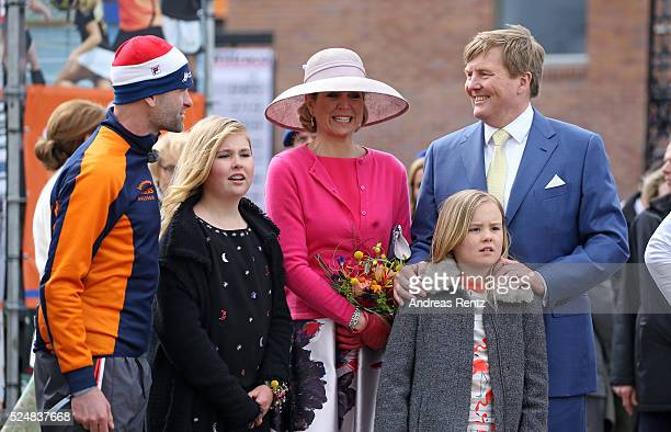 Crown Princess Catharina-Amalia of The Netherlands, Queen Maxima of The Netherlands, Princess Ariane of The Netherlands and King Willem-Alexander of...