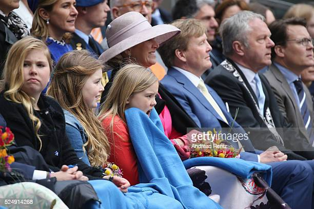 Crown Princess Catharina-Amalia, Princess Alexia of The Netherlands, Princess Ariane of The Netherlands, Queen Maxima of The Netherlands and King...