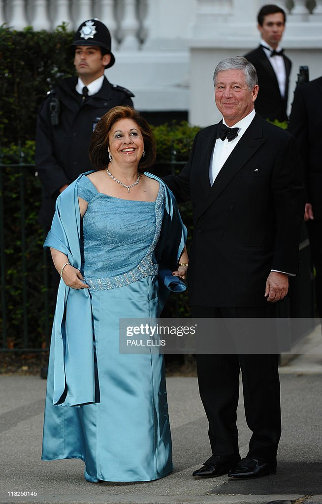 Crown Princess Katherine of Serbia (L) and Crown Prince Alexander II of Serbia pose at the Mandarin Oriental hotel for a gala dinner hosted by Britain's Queen Elizabeth II on April 28, 2011 on the eve of the Royal wedding. Britain's Prince William is to marry his fiancee Kate Middleton at Westminster Abbey in London on April 29, 2011.