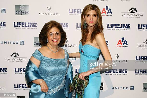 Crown Princess Katherine of Serbia and guest attend The Princes Ball II A Masquerade Gala at Cipriani 42nd Street on May 13 2011 in New York City