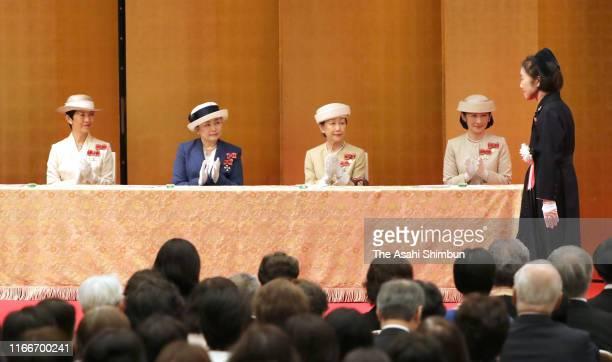 Crown Princess Kiko of Akishino, Princess Hanako of Hitachi, Princess Nobuko of Mikasa and Princess Hisako of Takamado attend the Florence...