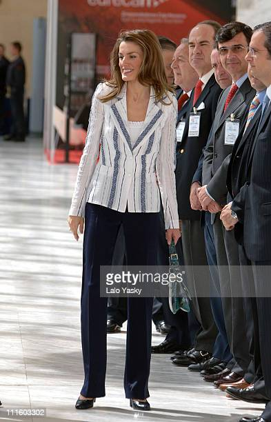 Crown Princess Letizia during Crown Prince Felipe and Pincess Letizia attend the 50th Anniversary of the 'The Association for the Progress of the...