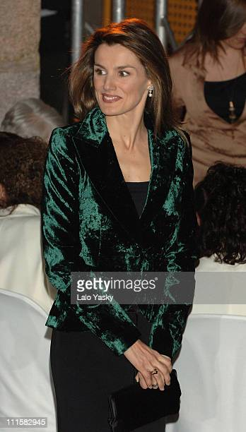 Crown Princess Letizia Present Children and Youth Literature Awards Barco de Vapor and Gran Angular at Casa de Correos in Madrid Spain on March 1 2006
