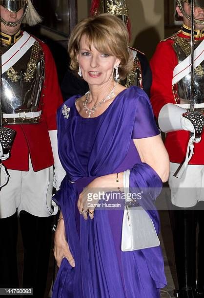 Crown Princess Margarita of Romania attends a dinner for foreign Sovereigns to commemorate the Diamond Jubilee at Buckingham Palace on May 18 2012 in...