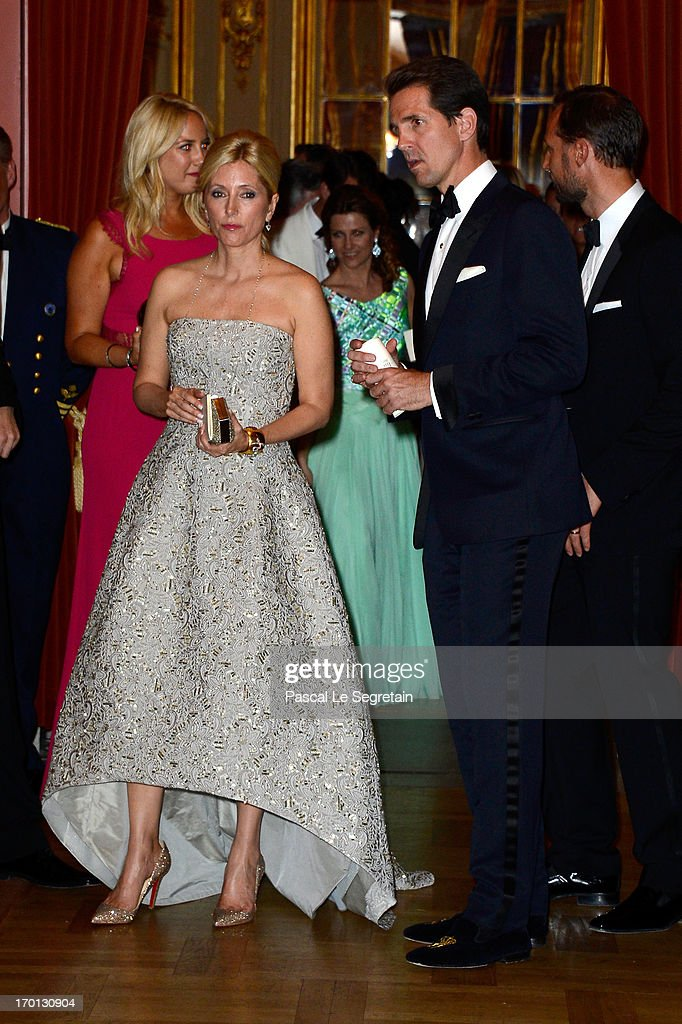 King Carl XVI Gustav & Queen Silvia Host Private Dinner For The Wedding Of Princess Madeleine & Christopher O'Neill- Inside Arrivals : News Photo