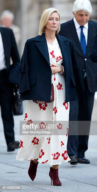 Crown Princess MarieChantal of Greece attends a reception and awards ceremony at the Royal Academy of Arts on October 11 2016 in London England
