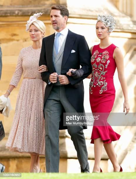 Crown Princess MarieChantal of Greece Crown Prince Pavlos of Greece and Princess MariaOlympia of Greece attend the wedding of Princess Eugenie of...