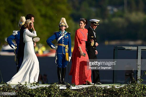 Crown Princess MarieChantal of Greece Prince Pavlos of GreeceCrown Princess Mary of Denmark and Crown Prince Frederik of Denmark attend the evening...