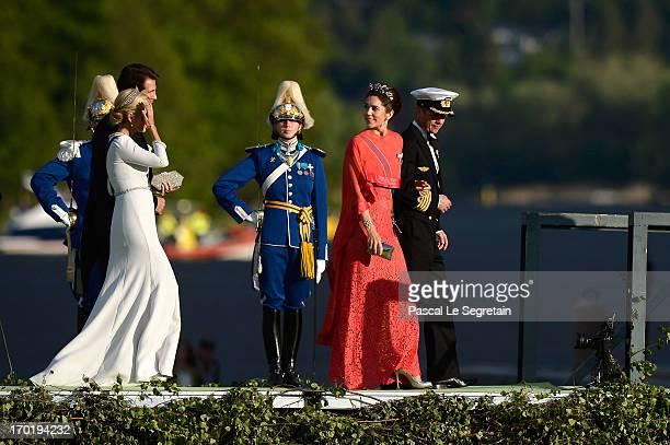 Crown Princess Marie-Chantal of Greece, Prince Pavlos of Greece,Crown Princess Mary of Denmark and Crown Prince Frederik of Denmark attend the...