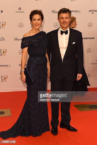 Crown Princess Mary and Crown Prince Frederik arrive at the Bambi Awards 2014 on November 13 2014 in Berlin Germany