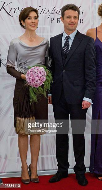 Crown Princess Mary and Crown Prince Frederik arrives at the award show of Crown Prince Frederik and Crown Princess Mary at Musikhuset Aarhus on...