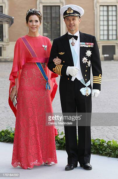 Crown Princess Mary and Crown Prince Frederik attend the wedding of Princess Madeleine of Sweden and Christopher O'Neill hosted by King Carl Gustaf...