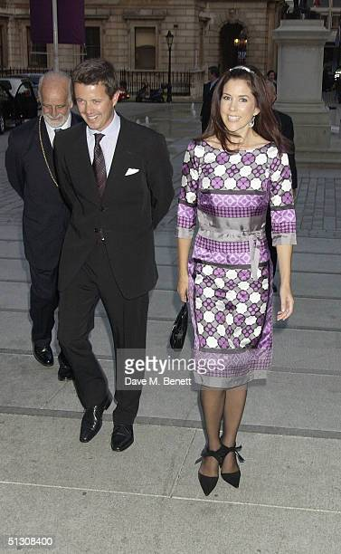 Crown Princess Mary and Crown Prince Frederik of Denmark attend a private view and reception for new show 'Ancient Art To PostImpressionism' at the...