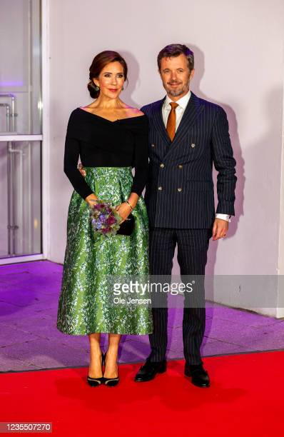 Crown Princess Mary and Crown Prince Frederik of Denmark attend the Crown Prince couples yearly Award Show on September 25, 2021 in Vejle, Denmark....