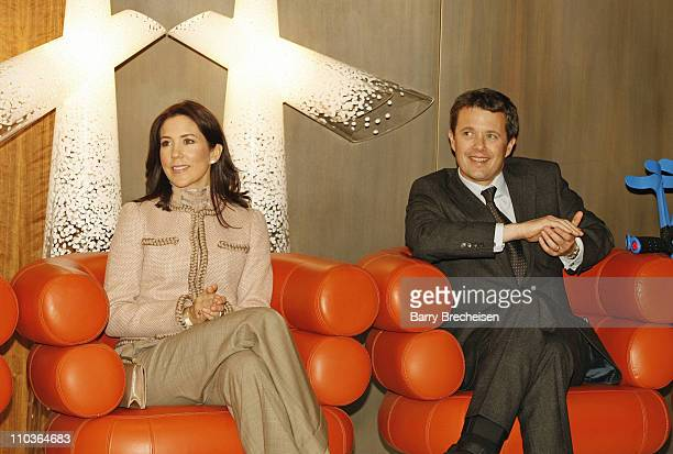 Crown Princess Mary and Crown Prince Frederik of Denmark visit the ''Danish Design'' event on March 22, 2009 in Chicago, Illinois.