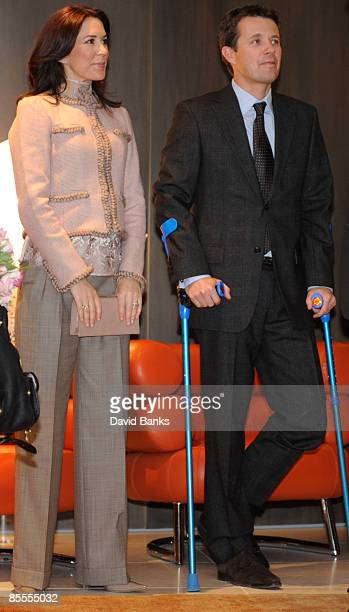 Crown Princess Mary and Crown Prince Frederik of Denmark visit the Danish Design event on March 22 2009 in Chicago Illinois