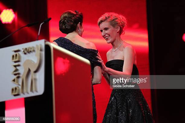 Crown Princess Mary and Maria Furtwaengler during the Bambi Awards 2014 show on November 13 2014 in Berlin Germany