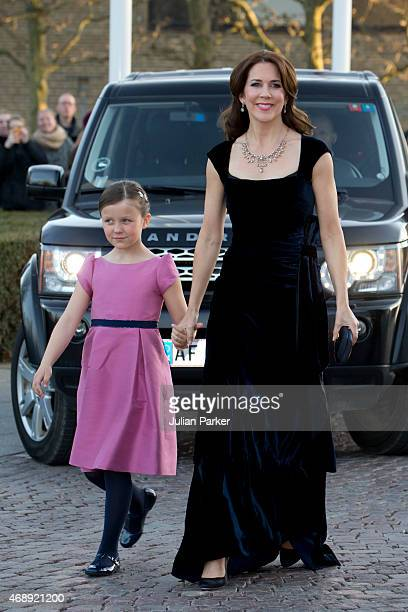Crown Princess Mary and Princess Isabella of Denmark attend a Gala Night to mark the forthcoming 75th Birthday of Queen Margrethe II of Denmark at...
