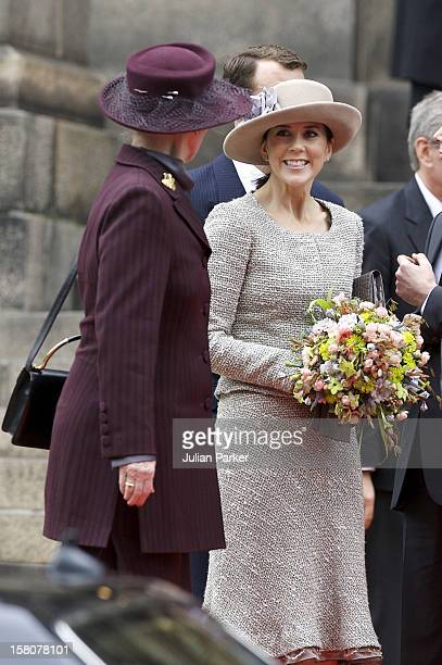 Crown Princess Mary And Queen Margrethe Ii Of Denmark Attend The Opening Of The Danish Parliament At Christiansborg Palace In Copenhagen