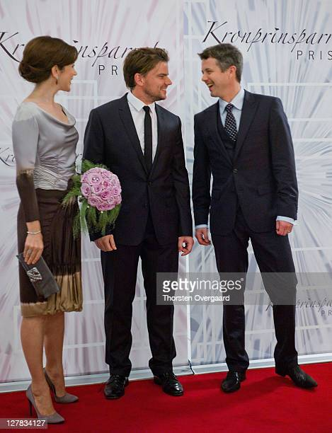 Crown Princess Mary architech and awardee Bjarke Ingels Crown Prince Frederik arrives at the award show of Crown Prince Frederik and Crown Princess...