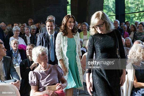 Crown Princess Mary arrives to the preview event of French painter Monet exhibition at Ordrupgaard Museum in Charlottenlund in Denmark on August 23...