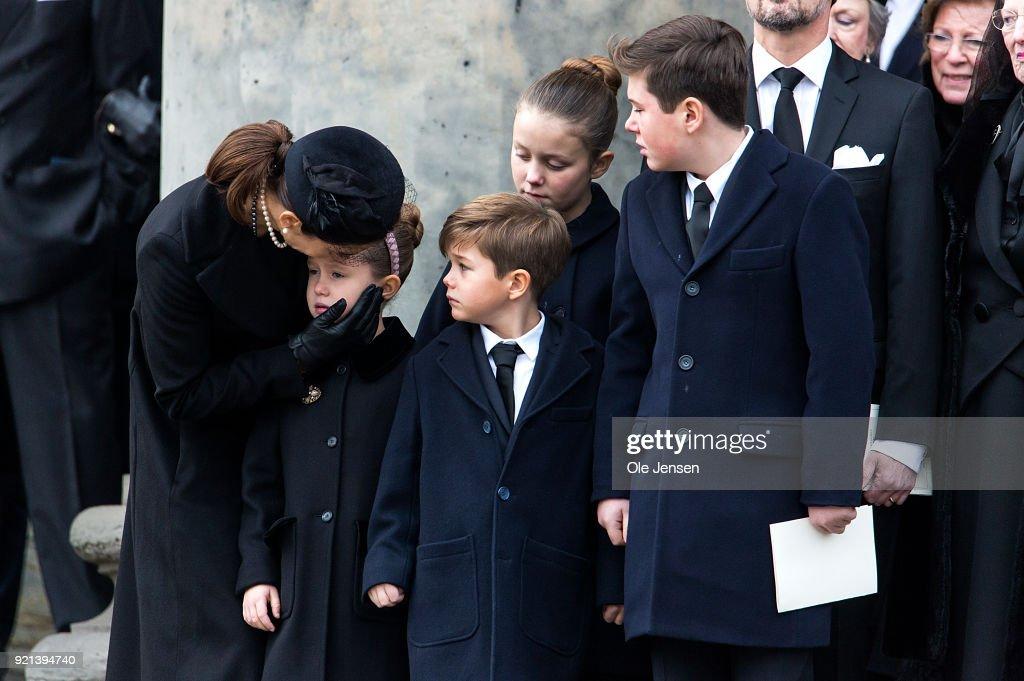 Funeral of Denmark's Prince Henrik at Parliament Palace Church Copenhagen