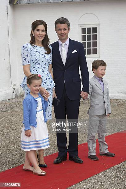Crown Princess Mary Crown Prince Frederik With Their Children Prince Christian And Princess Isabella Arrive For The Christening And Naming Ceremony...