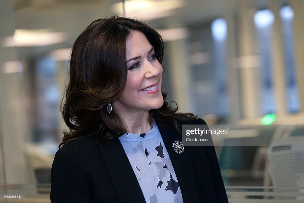 "Crown Princess Mary Visits ""Copenhagen Baby Heart"" Project : News Photo"