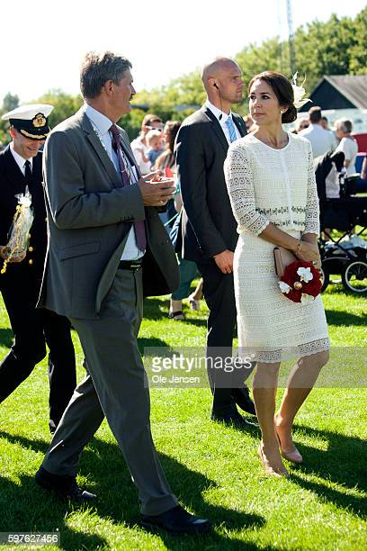 Crown Princess Mary during her visit to the city of Glostrup's 850 year anniversary in Denmark on August 27 2016