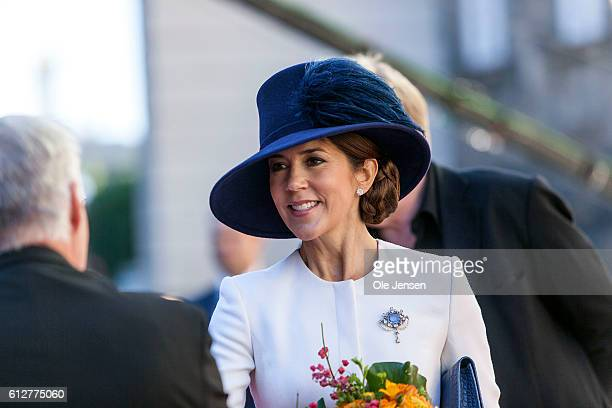 Crown Princess Mary during the Royal family's arrival to the Parliament where they will attend the opening of the Parliament at Christiansborg in...