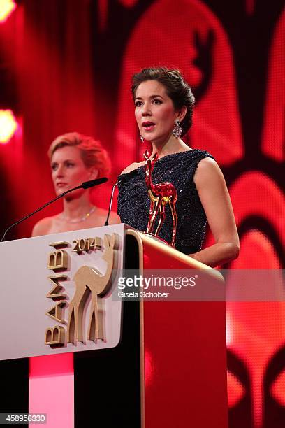 Crown Princess Mary Elisabeth of Denmark is seen on stage during the Bambi Awards 2014 show on November 13 2014 in Berlin Germany