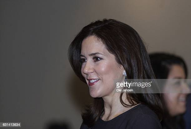 Crown Princess Mary is seen during The Berlingske Foundation's Honorary Award at The Berlingske Media house on January 10 2017 in Copenhagen Denmark...