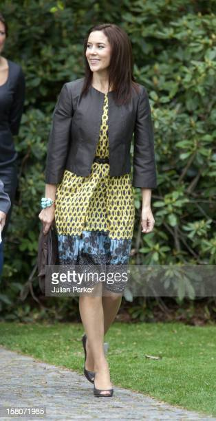 Crown Princess Mary Of Denmark Accompanies Mrs May Papoulia On A Visit To The Louisiana Museum Near Copenhagen During The State Visit Of The...