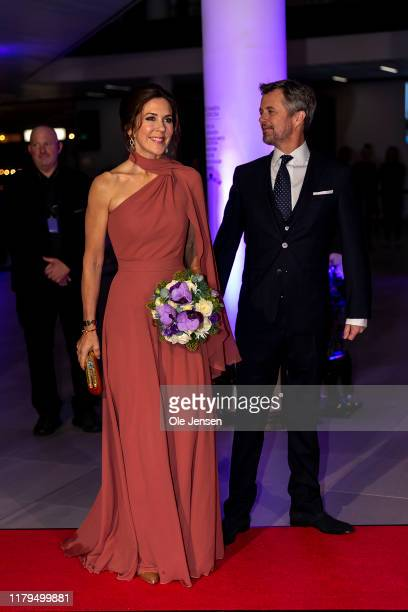 Crown Princess Mary of Denmark and Crown Prince Frederik arrive to the Crown Prince Culture Ward Show on November 2 2019 in Odense Denmark The Crown...