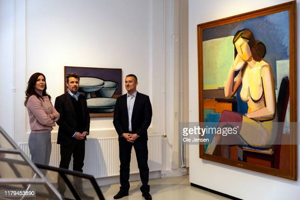 Crown Princess Mary of Denmark and Crown Prince Frederik of Denmark during their visit to Brandts Art Museum ahead of this evening's Cultural Award...