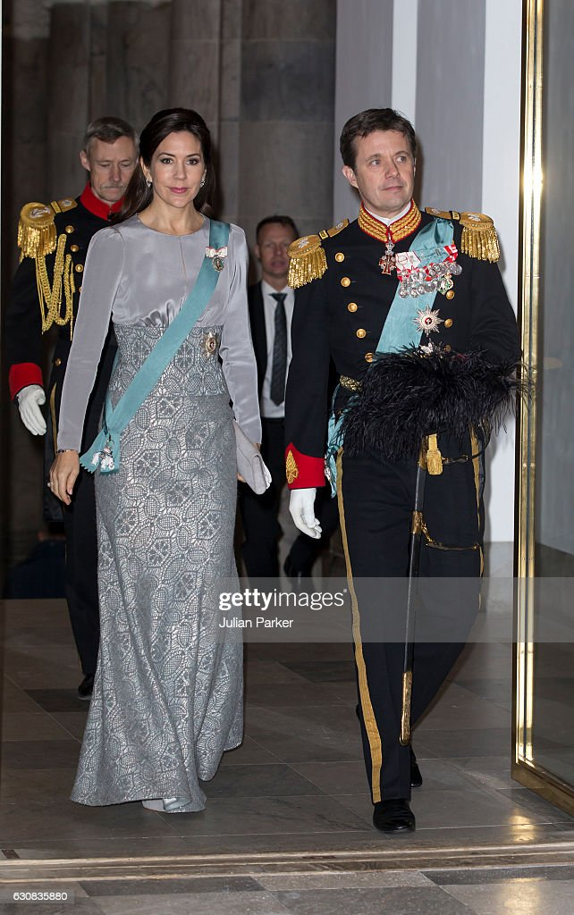Danish Queen Margrethe Holds New Year's Reception For The Foreign Diplomatic Corps : News Photo