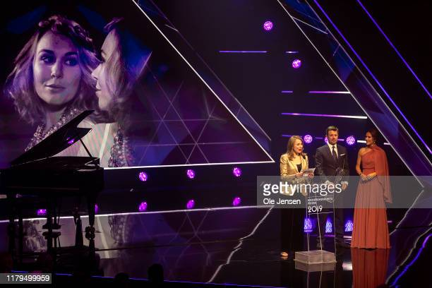 Crown Princess Mary of Denmark and Crown Prince Frederik presents the Crown Prince Couples Cultura Award to opera singer Elsa Dreisig on November 2,...