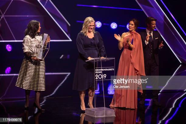 Crown Princess Mary of Denmark and Crown Prince Frederik presents the Crown Prince Couples Social Ward Prize to The Township Mothers on November 2,...
