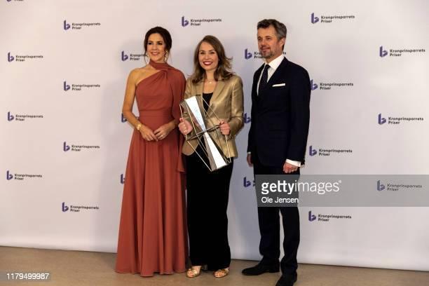 Crown Princess Mary of Denmark and Crown Prince Frederik seen together with opera singer Elsa Dreisig on November 2, 2019 in Odense, Denmark. Ela...