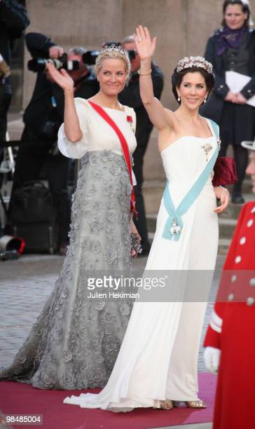 Crown Princess Mary of Denmark and Crown Princess MetteMarit of Norway attend the Gala Performance in celebration of Queen Margrethe's 70th Birthday...
