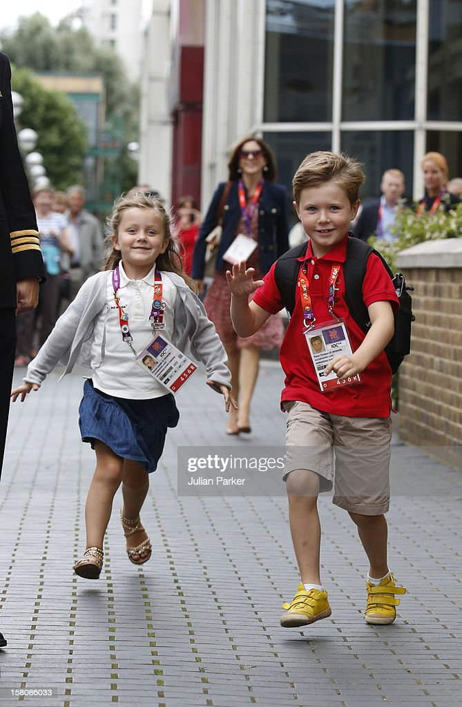 Crown Princess Mary Of Denmark, And Her Children, Prince ...