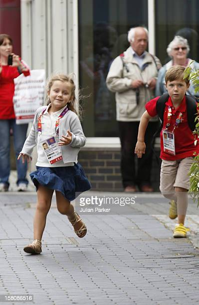 Crown Princess Mary Of Denmark And Her Children Prince Christian And Princess Isabella Return To The Danish Royal Yacht Dannebrog After A Day At The...