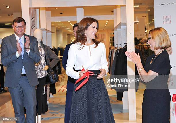 Crown Princess Mary of Denmark and Liz Rodbell President of Hudson's Bay attend official visit to Canada Day 3 at The Hudson's Bay on September 19...
