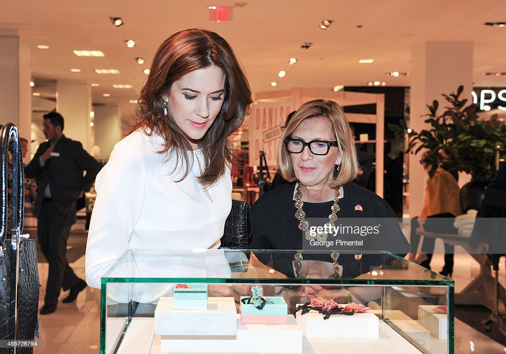 Crown Princess Mary of Denmark and Liz Rodbell, President of Hudson's Bay attend official visit to Canada - Day 3 at The Hudson's Bay on September 19, 2014 in Toronto, Canada.